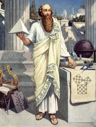 Pitagoras i bractwo pitagorejskie