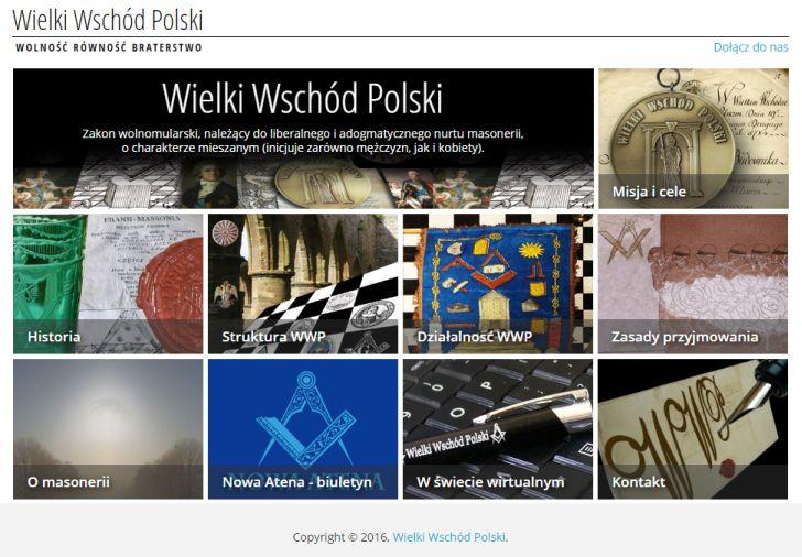 Strona internetowa Wielkiego Wschodu Polski