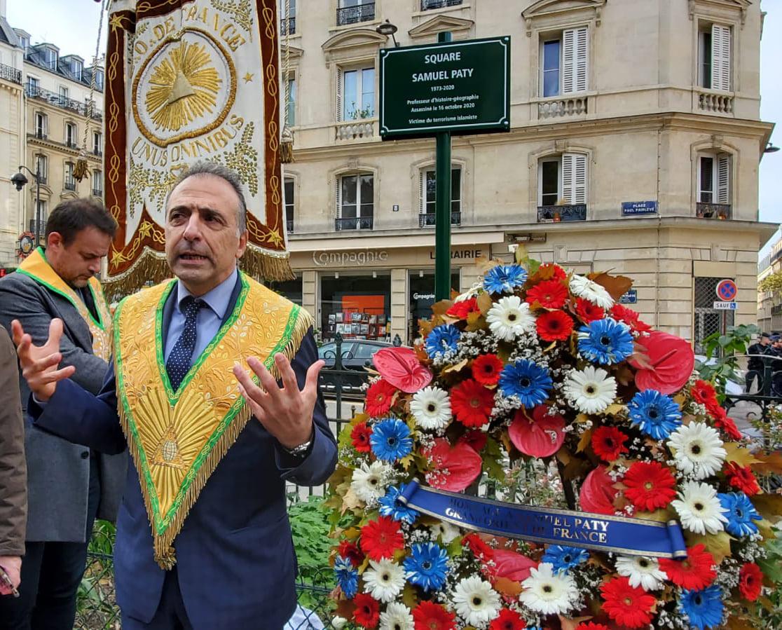 Wielki Wschód Francji upamiętnia zamordowanego nauczyciela
